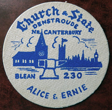 Church and State beermat