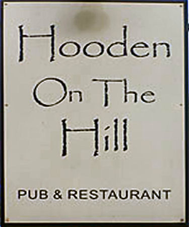 Hooden on the Hill sign