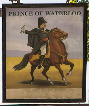 Prince of Waterloo sign 2009