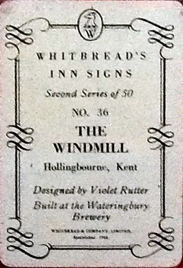 Windmill metal sign