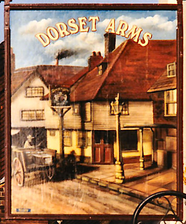 Dorset Arms sign 1980s