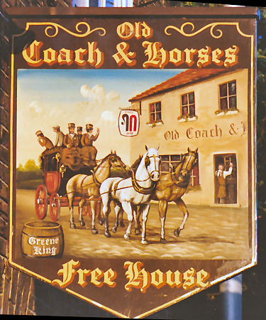 Old Coach and Horses sign 1991