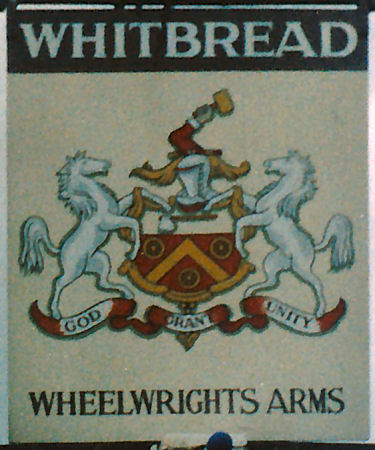 Wheelwrights Arms sign 1985