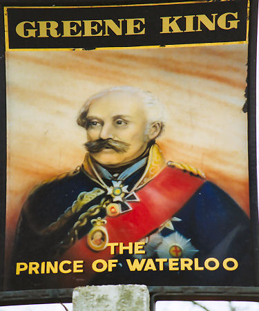 Prince of Waterloo sign 1991
