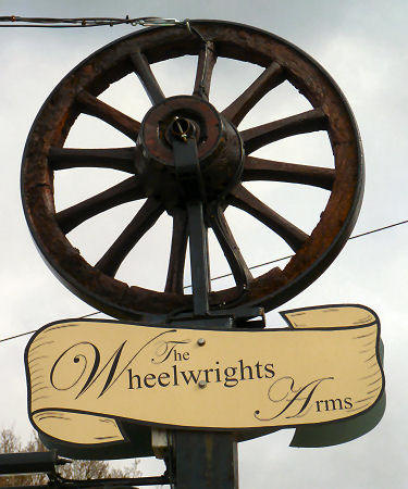Wheelwrights Arms sign 2015