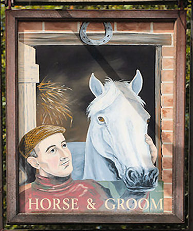 Horse and Groom sign 2015