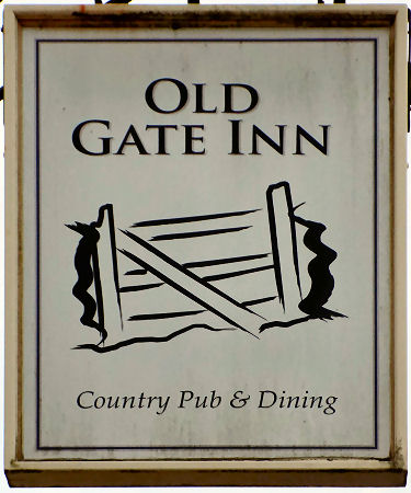 Old Gate Inn sign 2016