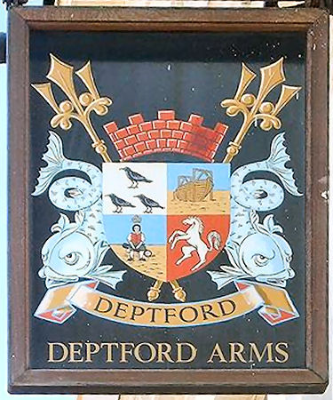 Deprford Arms sign 2010