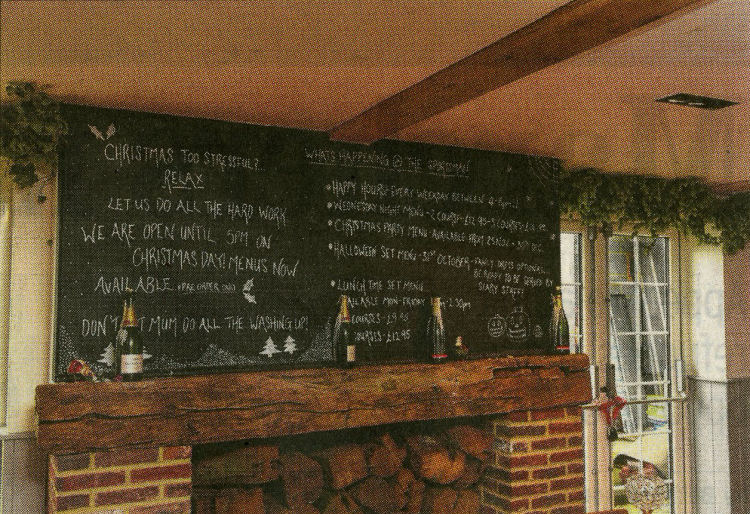 Sportsman menu inside