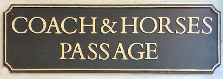 Coach and Horses Passage sign 2017