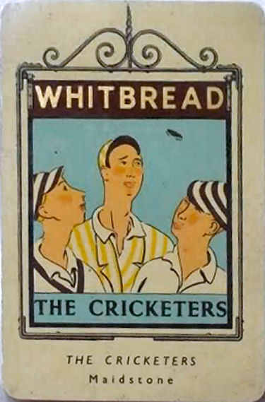 Cricketers Whitbread sign