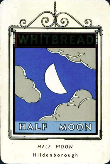 Half Moon Whitbread sign
