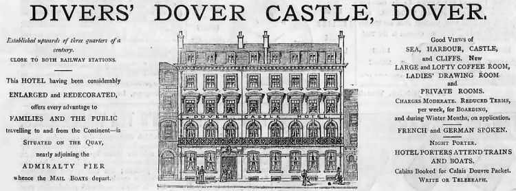 Dover Castle Hotel advert 1879