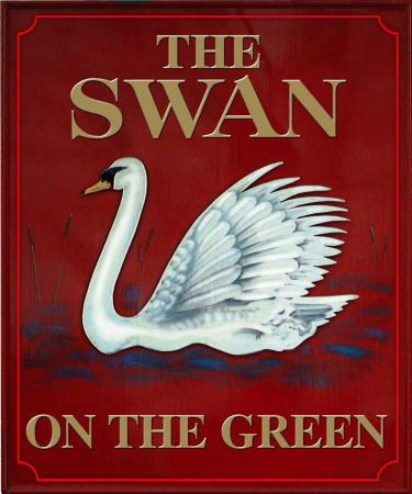 Swan on the Green sign 2018