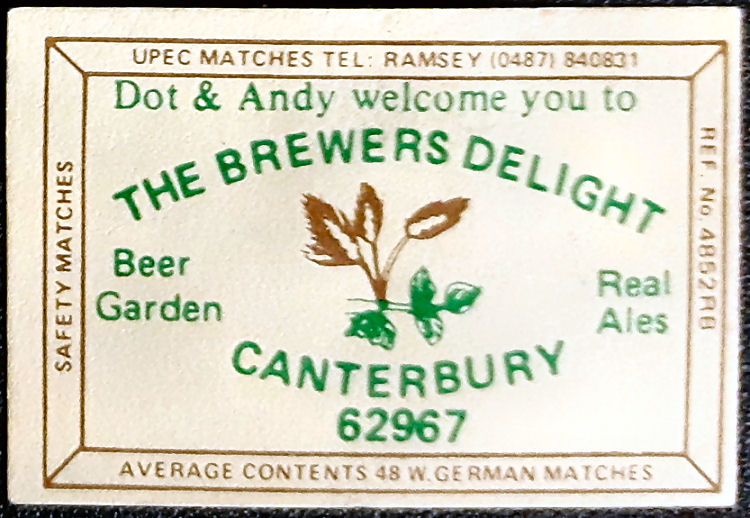 Brewers Delight matches