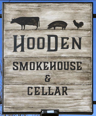 Hooden Smokehouse sign 2018