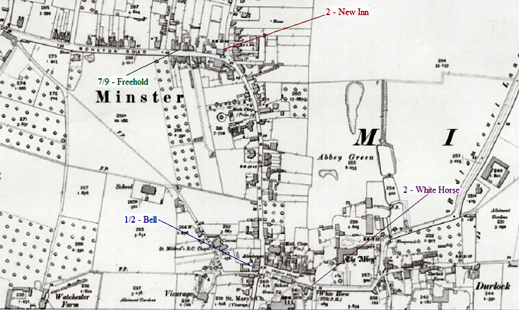 Minster map 1905