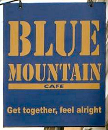 Blue Mountain cafe sign 2014