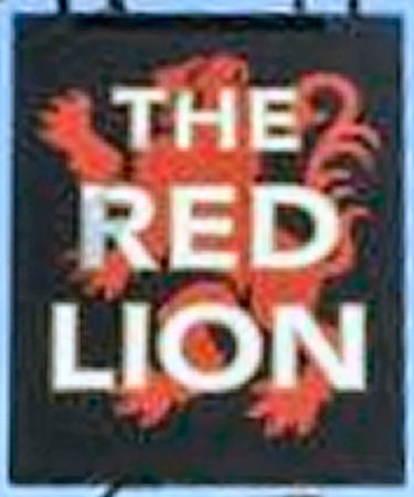 Red Lion sign 2019