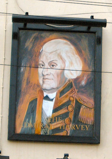 Admiral Harvey sign 2007