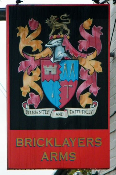 Bricklayers Arms Sign 2010