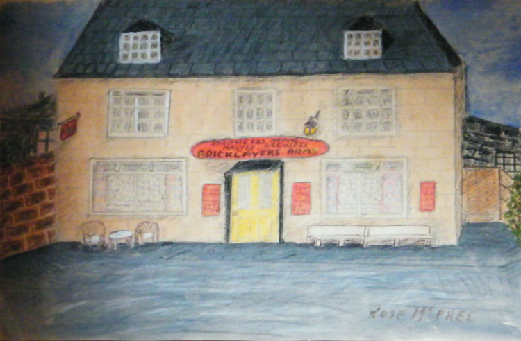 Painting of the Bricklayers Arms