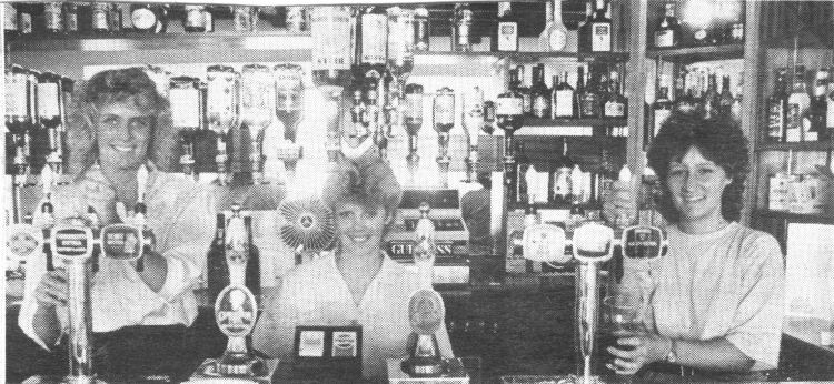 Staff at Captain Webbs, 1989