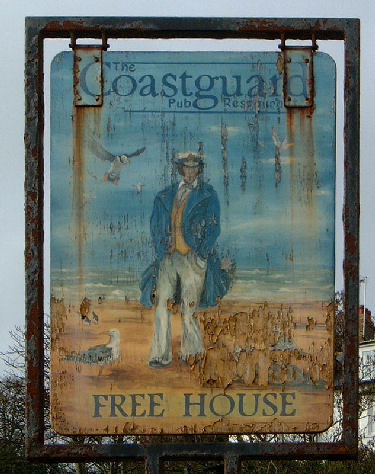 Coastguard sign St Margarets Bay