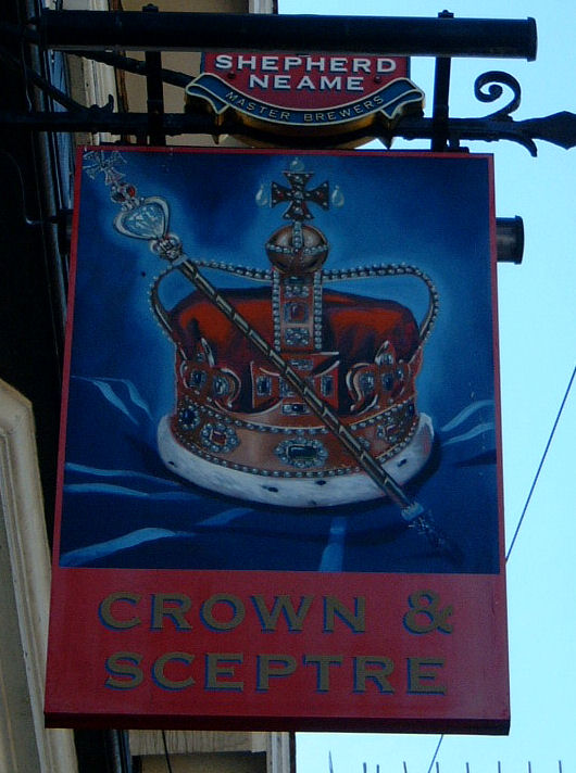 Crown and Sceptre sign