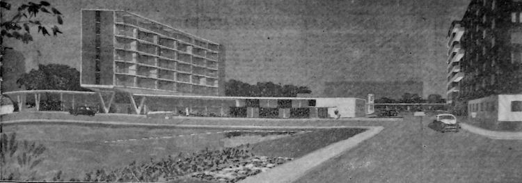 Proposed hotel Cambden Crescent, 1955