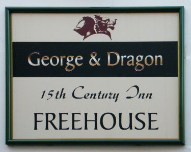 George and Dragon sign 2012