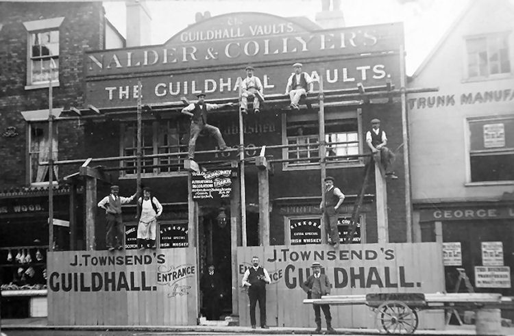 Guildhall Vaults circa 1928