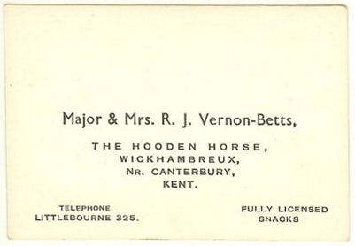 Hooden Horse business card back