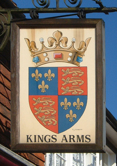 King's Arms sign at Elham