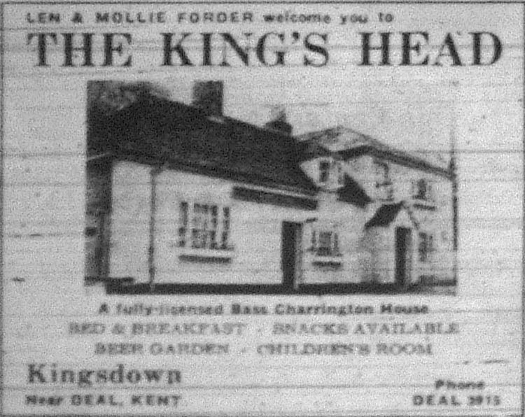 King's Head advert 1970