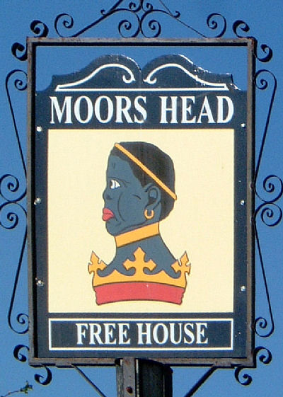 Moore's Head sign at Adisham