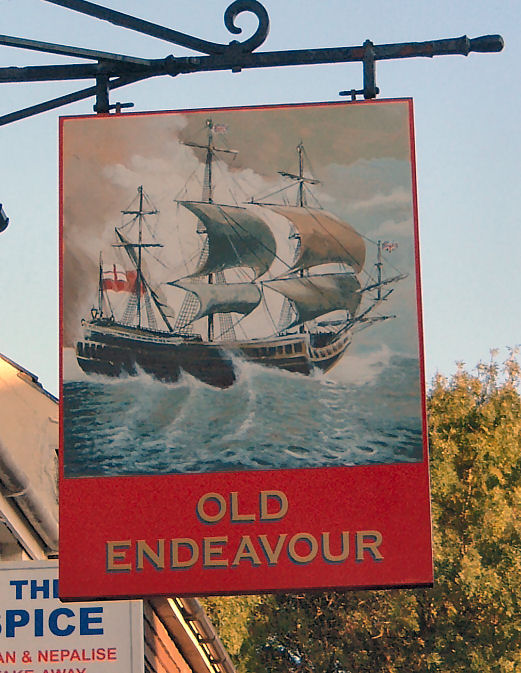 Old Endeavour sign 2007