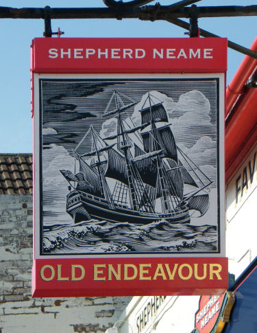 Old Endeavour Sign 2010