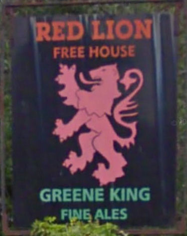 Red Lion sign at Stodmarsh