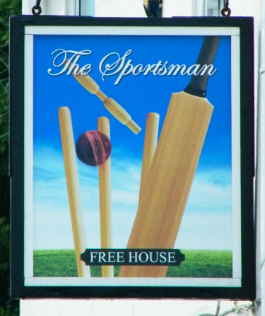 Sportsman sign, Sholden 2010