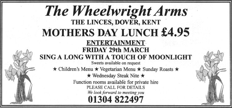 Wheelwrights Arms Advert 2003
