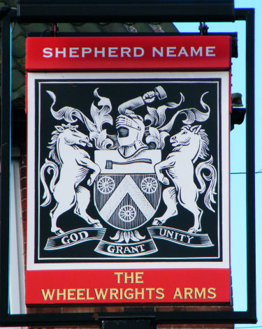 Wheelwright Arms sign 2010