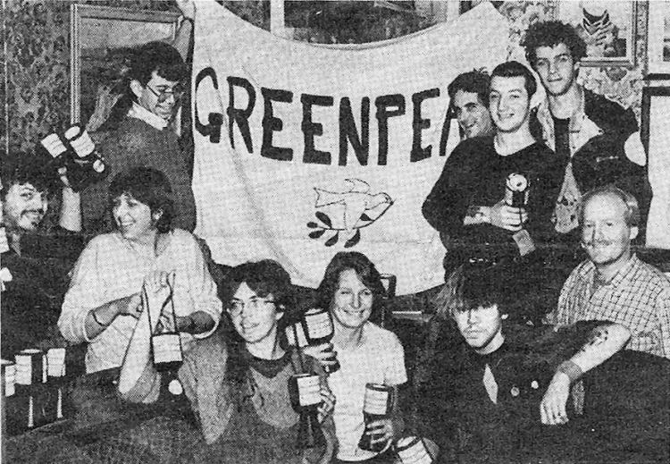 Greenpeace collection at the White Horse.