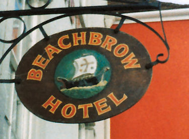Beachbrow Hotel sign 1987