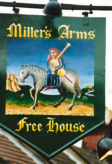 Millers Arms sign 1994