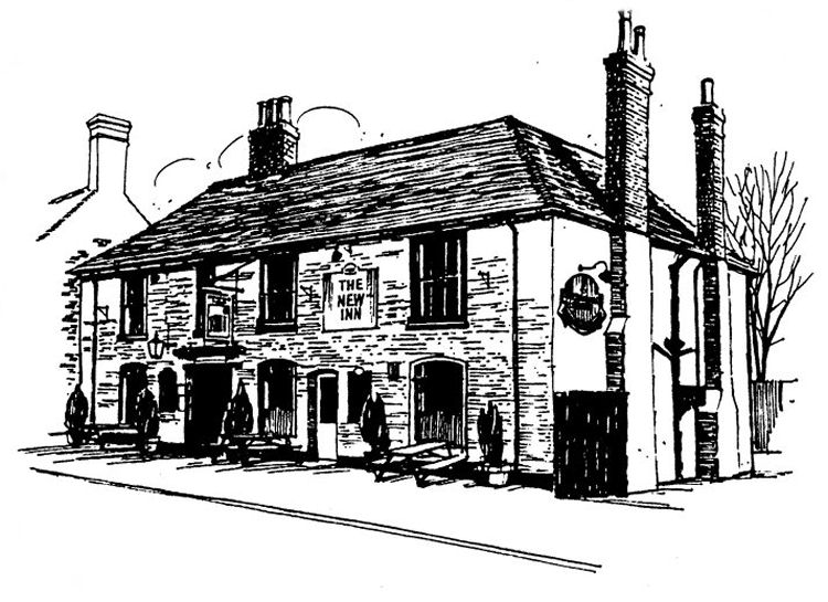 Line drawing of New Inn date unknown