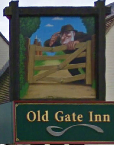 Old Gate Inn sign 2009