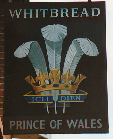 Prince of Wales sign 1991