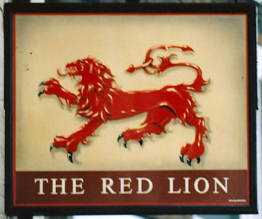 Red Lion sign 1991