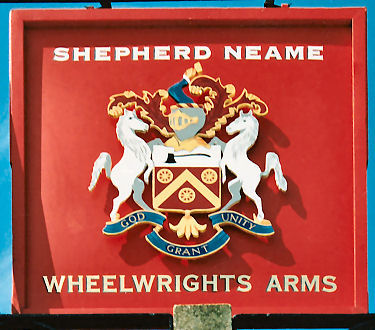 Wheelwright's Arms sign 1992